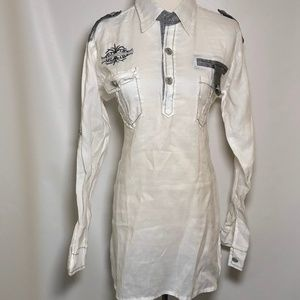 Sylee Size 16 Woman's Shirt Button Front White